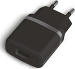 Powertech USB Wall Adapter Μαύρο (PT-415)