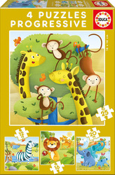 Wild Animals 12,16,20 & 25pcs (17147) Educa