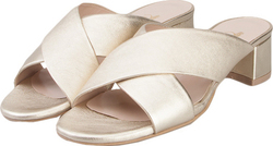 NELLY SHOES NELLY SHOES 213 8 GOLD LEATHER