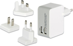 Ednet 2x USB Wall Adapter Λευκό (31808)