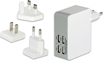 Ednet 4x USB Wall Adapter Λευκό (31809)