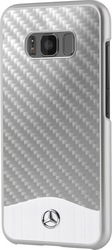 Mercedes Carbon Fiber & Brushed Aluminium Silver (Galaxy S8)