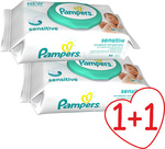 Pampers Sensitive Wipes 2x56τμχ