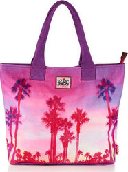Superdry Summer Time Tote Palm Beach Purple