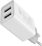 GOLF 2x USB Wall Adapter Λευκό (GF-U206)