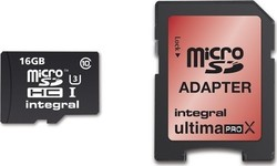 Integral UltimaProX microSDHC 16GB U3 with Adapter