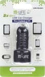 M-Life USB Car Charger 2A ML0001