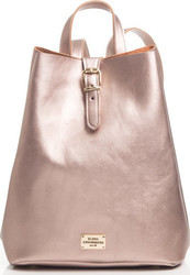 Elena Athanasiou Recycled Leather Backpack Metallic Pink