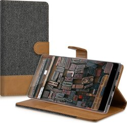 KW Wallet Υφασμάτινο Anthracite Brown (Xiaomi Mi Mix)