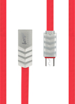 Beeyo Wave Flat USB 2.0 to micro USB Cable Κόκκινο 1m (GSM026869)