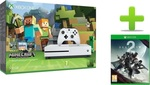 Microsoft Xbox One S 500GB Minecraft & Destiny 2