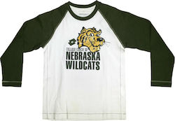 L6453 Lotto T-Shirt LS Nebraska B (white c/leaf)