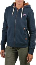 Body Action Fur Lined Sweat Jacket 071726 Blue