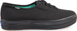 CASUAL SNEAKERS FLATFORMS ΠΑΝΙΝΑ KEDS (BLACK) WF49948