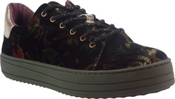 Desigual Shoes Sneakers Γυναικεία Παπούτσια Shoes Funky Sporty Militar Μαύρο Desigual shoes funky sporty Militar MAΥΡΟ