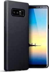 Terrapin Back Cover Σιλικόνης Solid Black Matte (Galaxy Note 8)