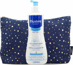 Mustela Gentle Cleansing Gel Hair & Body 500ml & Δώρο Νεσεσέρ