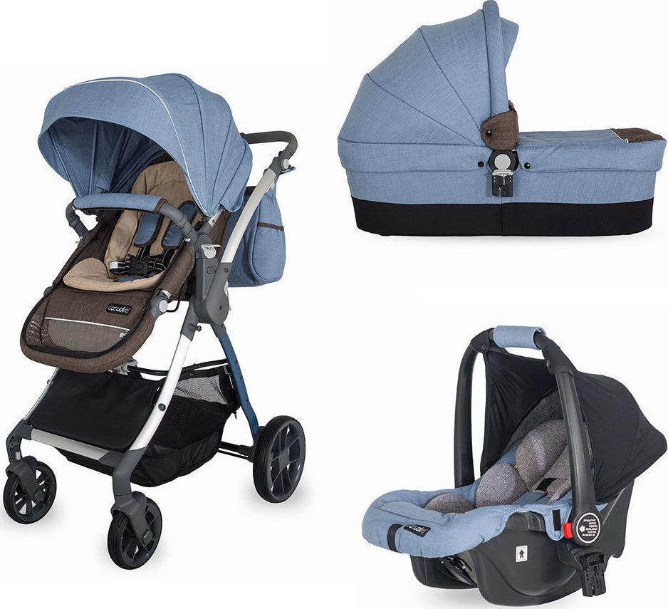 019c307ea52 Προσθήκη στα αγαπημένα menu Smart Baby Coccolle Acero 3 in 1 Blue