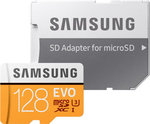 Samsung Evo microSDXC 128GB U3 with Adapter (100MB/s)