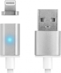 iSelf Magnetic / Regular USB to Lightning Cable Γκρι 1m (USBMAGLIGHTS)