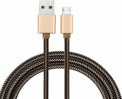 Emy Power Braided USB 2.0 to micro USB Cable Gold 2m (ΜΥ-448)