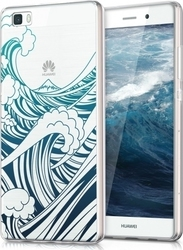KW Waves Dark Blue Transparent (Huawei P8 Lite)