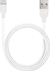 GP Batteries Regular USB to Lightning Cable Λευκό 1m (160GPB13C1)