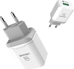 Usams 1x Wall Adapter Λευκό (US-CC024)