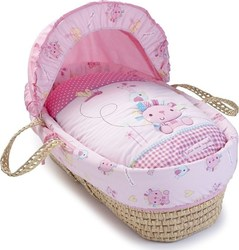 Clair De Lune Lottie & Squeek Palm Moses Basket