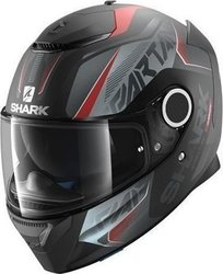 Shark Spartan Karken Matt Black/Red