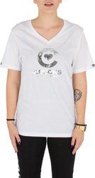 CROOKS AND CASTLES T-Shirt Ladies Knit V-Neck T-Shirt - Crooked Heart