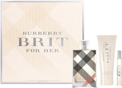 Burberry Brit For Her Eau de Parfum 100ml,Body Lotion 75ml & Eau de Parfum 7,5ml.