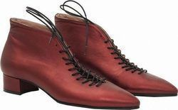 Δερμάτινα Ankle Boots Art Π18 Bordeaux w18-p18-01