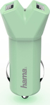"HAMA ""Design Line"" Car Charger 3.4A Green"