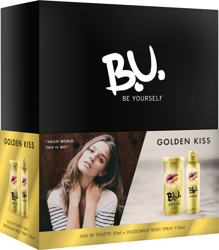 Προσθήκη στα αγαπημένα menu B.U. Golden Kiss Eau de Toilette 50ml    Deodorant Spray 150ml dc1122008bb
