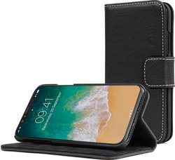 Snugg Leather Flip Wallet Μαύρο (iPhone X/Xs)