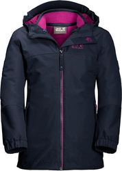 JACK WOLFSKIN GIRLS ICELAND 3IN1 JKT ΜΠΟΥΦΑΝ ΠΑΙΔΙΚΟ 1605263-1910