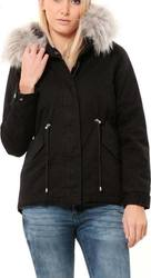 WAXX SQUAD PARKA JACKET WOMENS BLACK