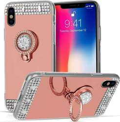Caseflex Mirrored Diamonds TPU Rose Gold (iPhone X)