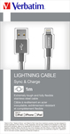 Verbatim Spiral USB to Lightning Cable Γκρι 1m (48860)