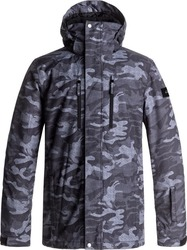 QUIKSILVER MISSION PRINT Black Grey Camocazi Men Snow Jacket