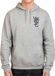 HOODIE WESC OVERLAY CHEST ΓΚΡΙ ΜΕΛΑΝΖΕ