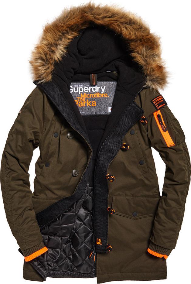 Superdry Παρκά SD-3 Parka Jacket Χακί Με Επένδυση   Γούνα στην ... f504c7ffa50