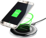 Cellular Line Wireless Charging Pad (Qi) Μαύρο (WIRELESSPAD)