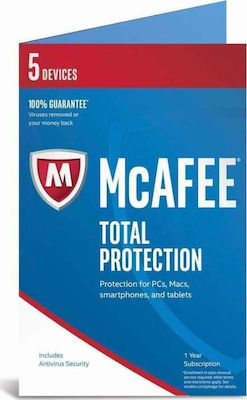 McAfee Total Protection 2018 (5 Licences , 1 Year) Key