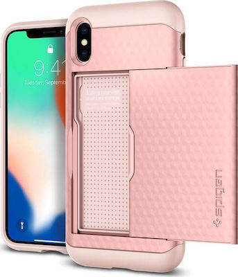 Spigen Crystal Wallet Rose Gold (iPhone X)