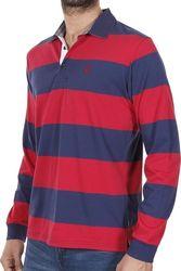 593138087dc4 Ανδρικό Μακρυμάνικη Ριγέ Μπλούζα με Γιακά POLO SANTANA SW16-1-100 Κόκκινο