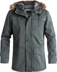 Quiksilver Storm Drop 5K Waterproof Winter Parka Urban Grey