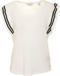 MAISON SCOTCH W 141445 TEE IN SPECIAL JERSEY - 141445-003 WHITE