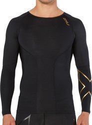 2XU Elite Compression Long Sleeve Top MA3014A BLK/GLD
